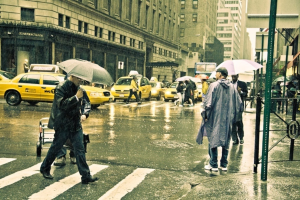 Going Out in Rain New York