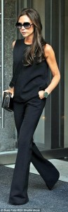 Victoria Beckham's outfit is perfect for a work to evening look.